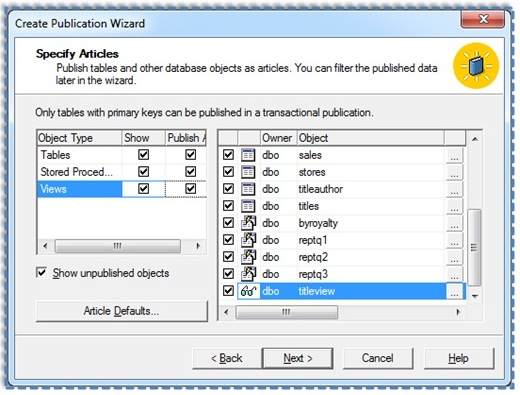 05 Setup and configure the Publication