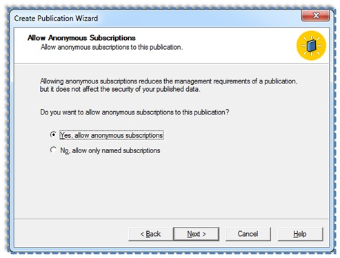 10 Setup and configure the Publication