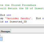 SQL Server – Stored Procedure with Output Parameters