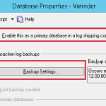 SQL Server – Log shipping for Disaster Recovery Solution